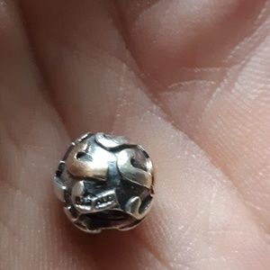 AUTHENTIC PANDORA 925/585 LETTER (J) CHARM BEAD